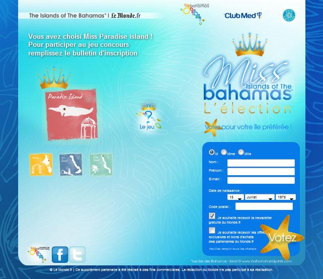 jeux concours Bahamas