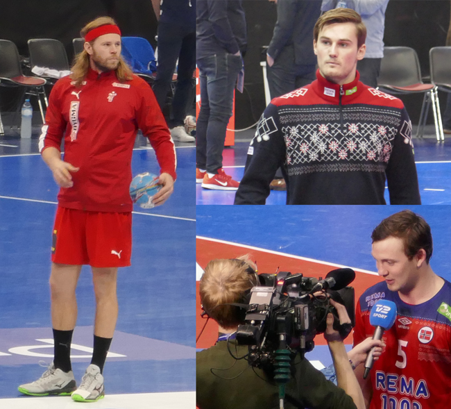 Mikael Hansen, Magnus Röd et Sander Sagosen avant l'euro 2020