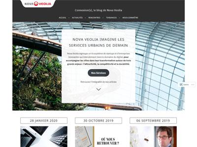page d'accueil du blog de NovaVeolia